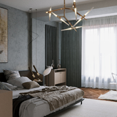 Light Complex Bedroom Visualization