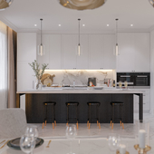 Кухня - столовая в загородном доме