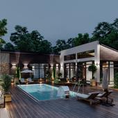 Архитектурное освещение загородного дома и участка