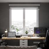 Небольшая комната для работы.