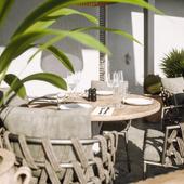 Cafe on terrace