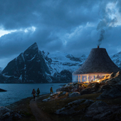 Fjordseeing shelter in Norway