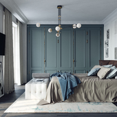 American style bedroom