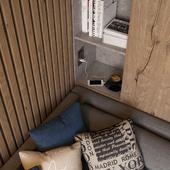 Квартира для холостяка | Гостевая комната