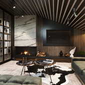 Chalet interior living room