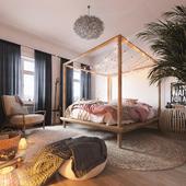 Дизайн и виз спальни для молодой пары