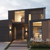Exterior visualization of private house