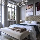 Визуализация кровати для мебельной фабрики