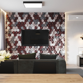 Интерьер однокомнатной квартиры студии в городе Оренбурге.