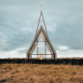 Minimalist church in Iceland