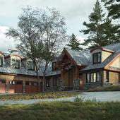 Жилой дом в стиле Rustik