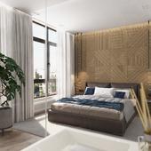 Квартира для холостяка | Спальня