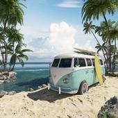 Surf hippie van