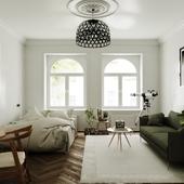 Scandinavian bedroom (сделано по референсу)