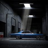 Автомобиль в ангаре