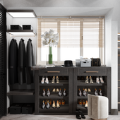 Waredrobe design in shpes of space grey
