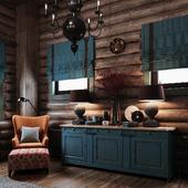 спальня в деревянном( каркасном из блокхауса) доме
