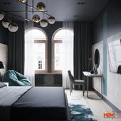 Гостевая спальня в ЖК Русский дом в Санкт-Петербурге для молодого человека