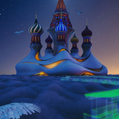 St. Basil's Cathedral. #chapter 3  #night
