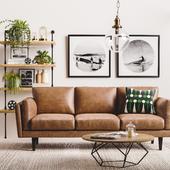 Mid Century Living Room ( сделано по референсу)