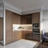 Дизайн однокомнатной квартиры в Москве в ЖК Юнион Парк 43м2