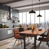 Kitchen interior (сделано по референсу)