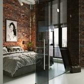Спальня в стиле лофт. (сделано по референсу)
