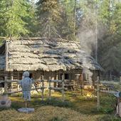 Средневековый дом в лесу