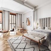 Дизайн и 3д визуализация спальни