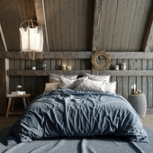 Scandinavian bedroom by reference (сделано по референсу)