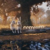 Охотники на привале.