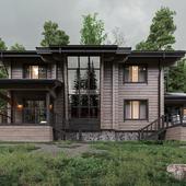Дом из клеёного бруса