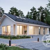Частный дом для небольшой семьи. Лого маленькое;).