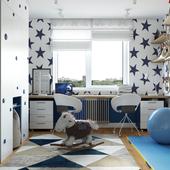 Детская комната для двух мальчиков V-ray 3.6