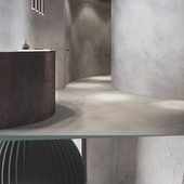 Minimalist Beauty Salon in the style of Wabi-Sabi