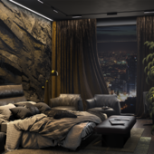 Дизайн и визуализация мастер спальни