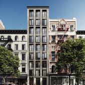 концепт здания в Нью Йорке