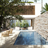 Экстерьер -дом с бассейном