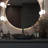 Bathroom in dark colors