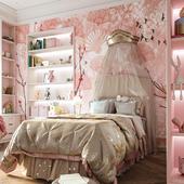 Kids room interior, for portfolio.(сделано по референсу)