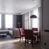 Эклектичный интерьер одесской квартиры(сделано по референсу)