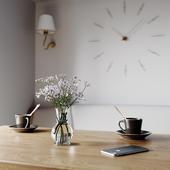 3д визуализация кухни и гостиной