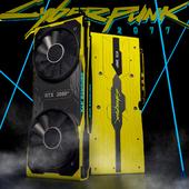 Видеокарта Nvidia RTX 2080Ti в стиле Cyberpunk 2077 (сделано по референсу)