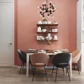Фрагменты розовой кухни