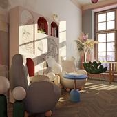 Детская комната для девочек близняшек