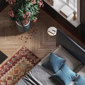 Pantone 447 c Bedroom