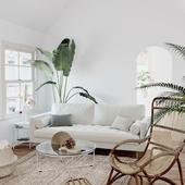 Tropical Living Room (сделано по референсу)