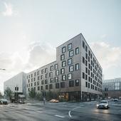 Havnehusene housing CGI (сделано по референсу)