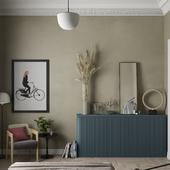 Bedroom in olive tones