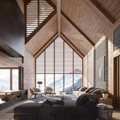 Living room interior (сделано по референсу)